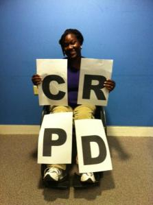 SIT student from Ghana CRPD
