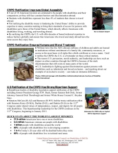 CRPD One Pager 2013 2nd