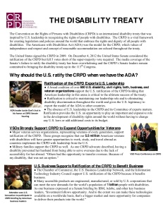 CRPD One Pager 2013