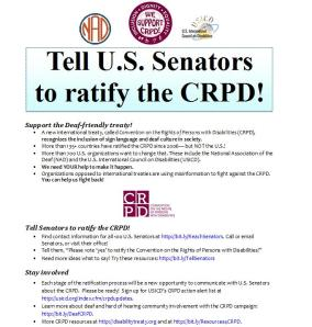 Deaf Take Action on CRPD! Oct'13